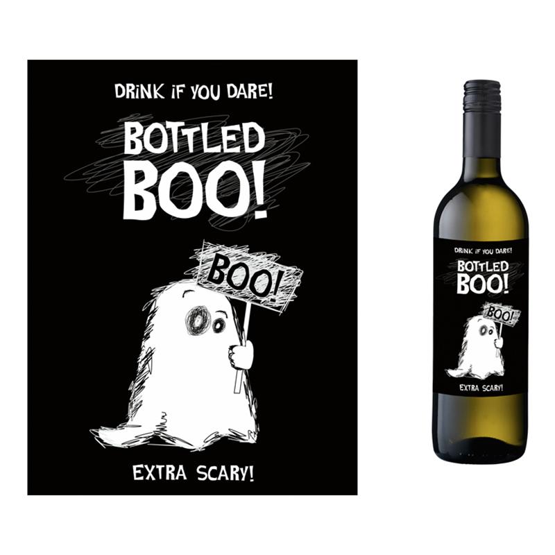 Flasketiketter Bottled Boo! - 10-pack