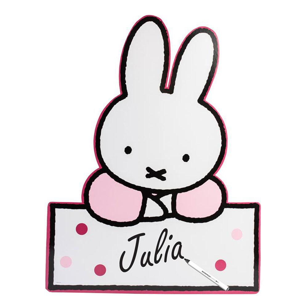 Födelsedagsskylt Miffy Rosa