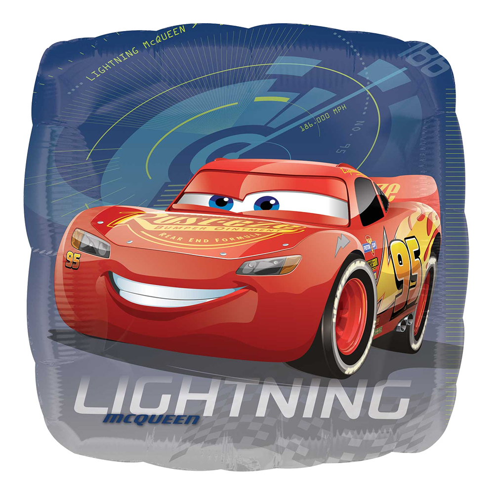 Folieballong Bilar/Cars 3