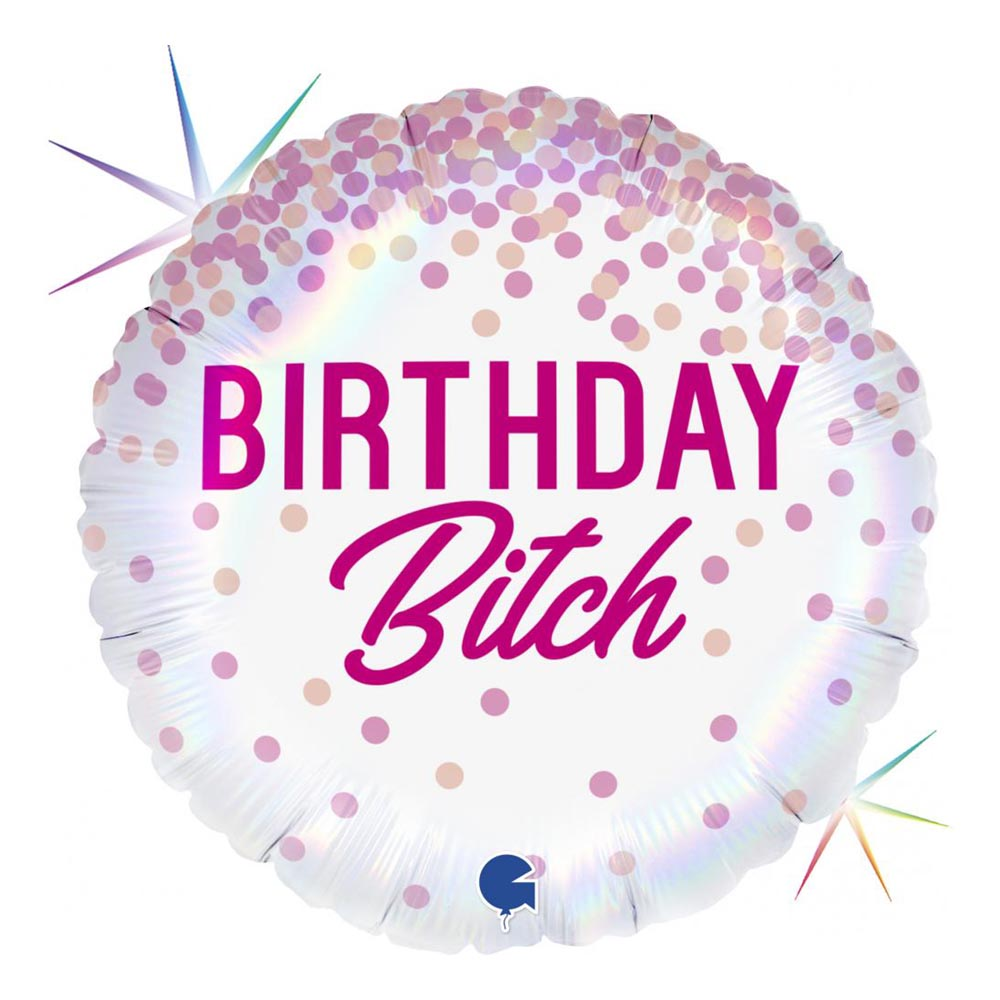 Folieballong Birthday Bitch