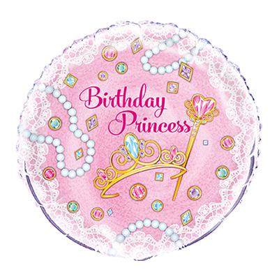 Folieballong Birthday Princess