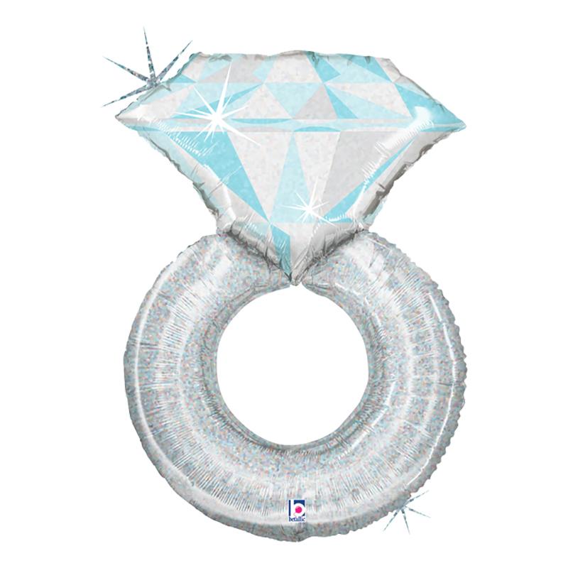 Folieballong Bröllopsring