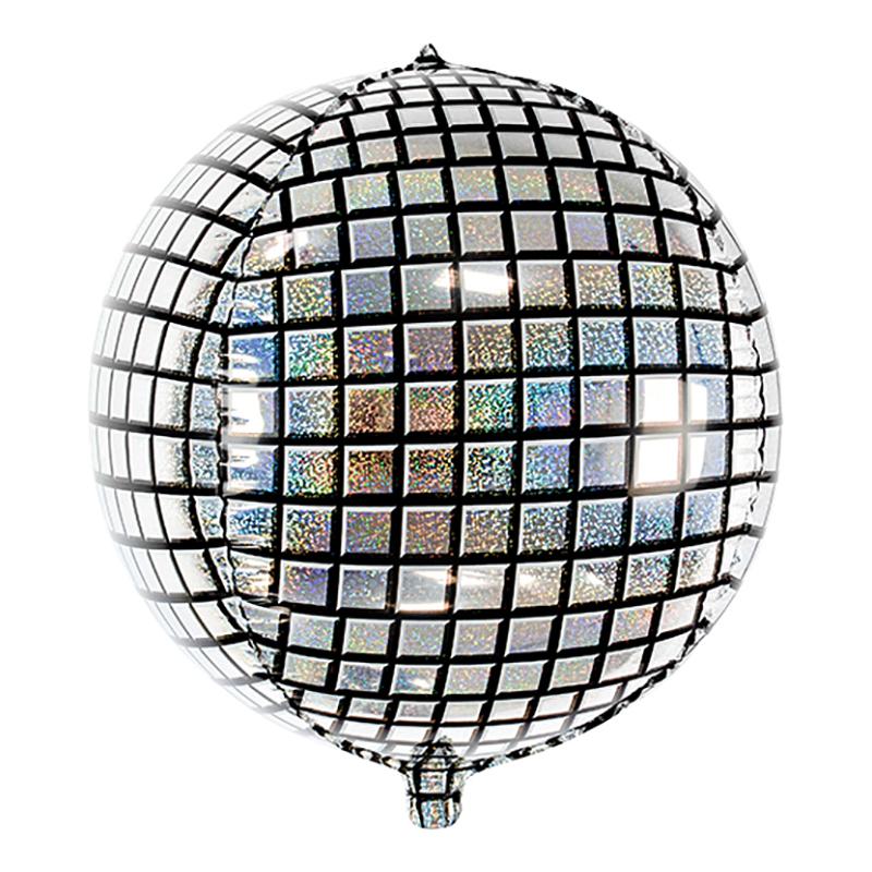 Folieballong Discokula Silver Holografisk - 1-pack