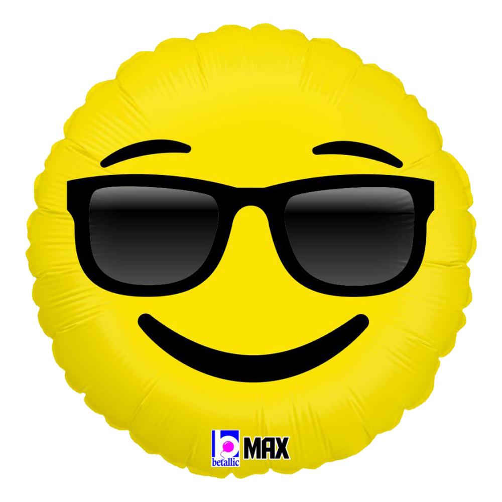 Folieballong Emoji Sunglasses - 45 cm
