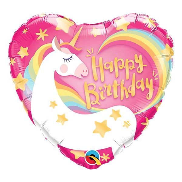 Folieballong Enhörning Happy Birthday