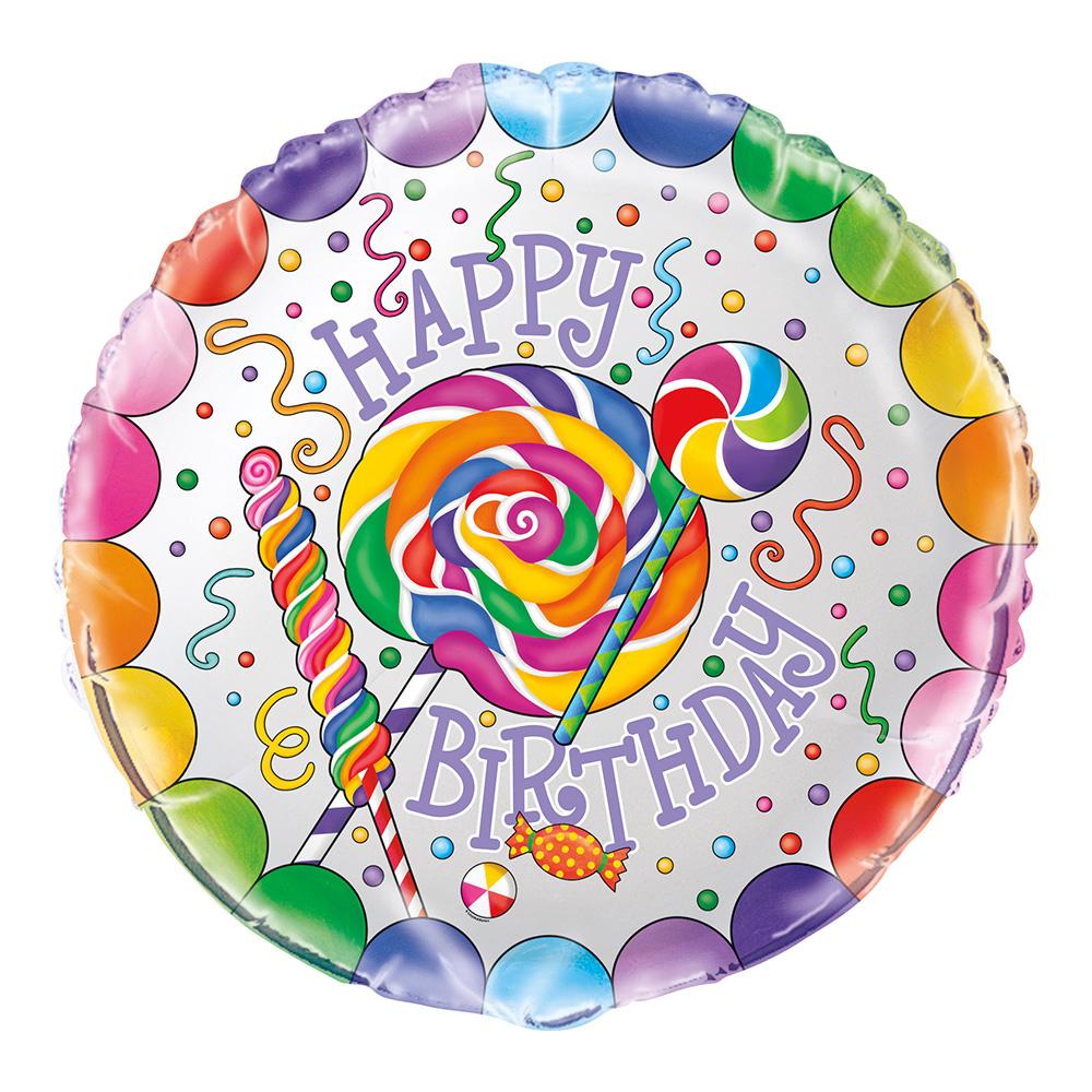 Folieballong Födelsedag Godis