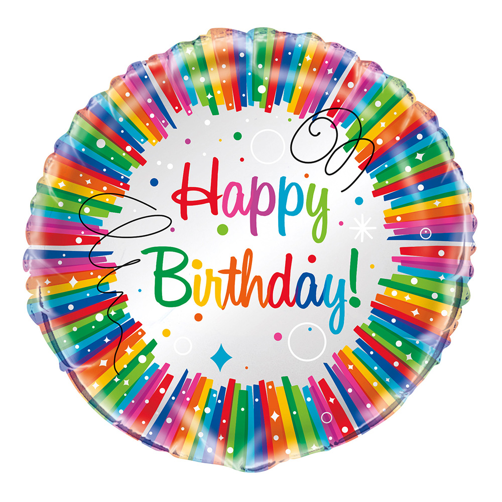 Folieballong Födelsedag Regnbåge