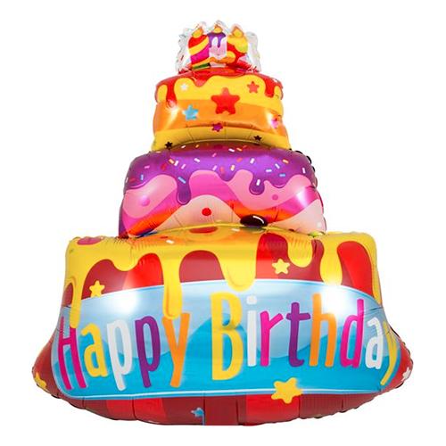 Folieballong Födelsedagstårta