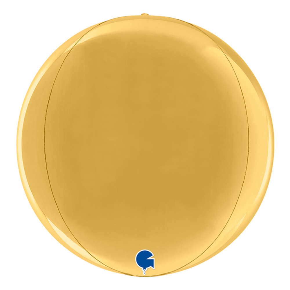 Folieballong Globe Rund Guld - 1-pack