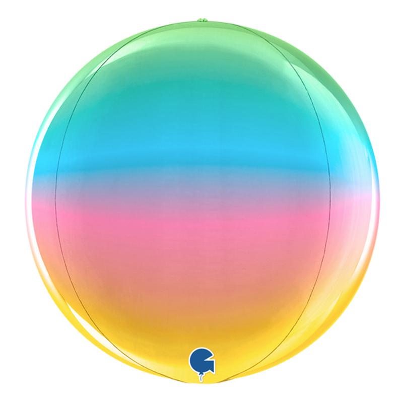 Folieballong Globe Stor Regnbågsfärgad