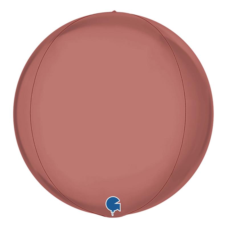 Folieballong Globe Stor Roséguld