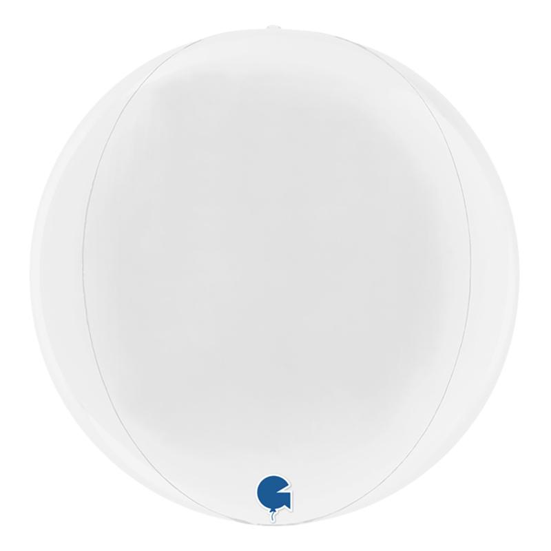 Folieballong Globe Vit