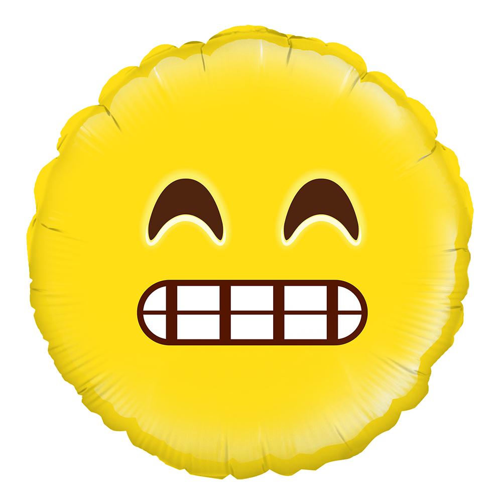 Folieballong Grin Emoji