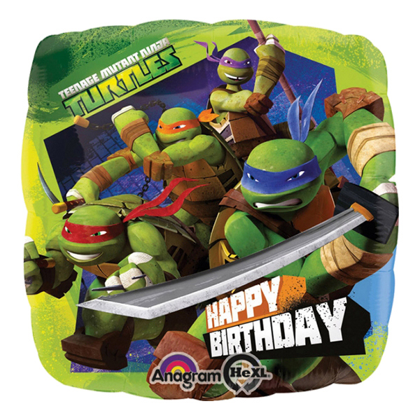 Ninja - Folieballong Happy Birthday Ninja Turtles