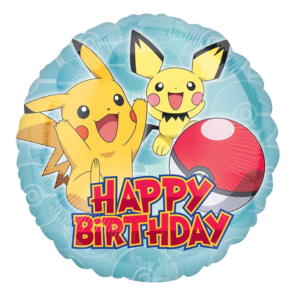Folieballong Happy Birthday Pokémon - 1-pack