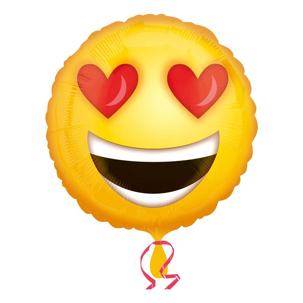Folieballong Heart Eyes Emoji - 1-pack