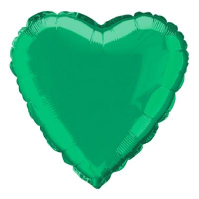 Folieballong Hjärta Grönt