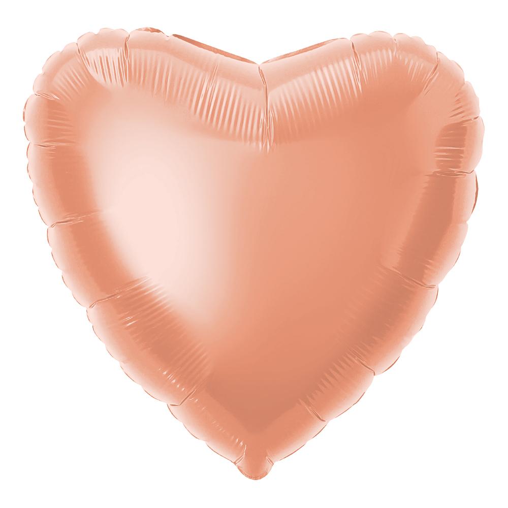 Folieballong Hjärta Roséguld