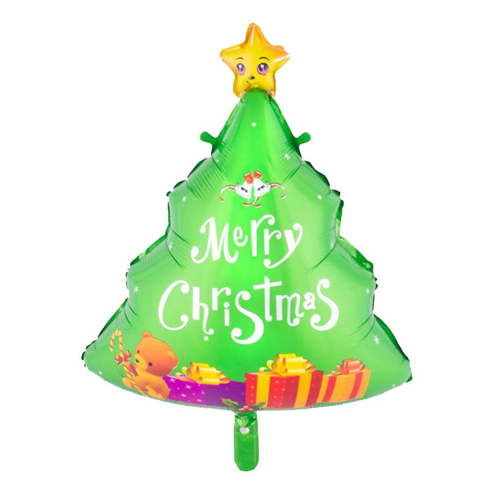 Folieballong Julgran Merry Christmas