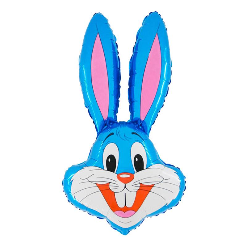 Kanin-produkter - Folieballong Kanin Blå