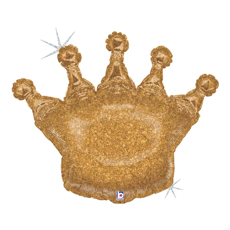 Folieballong Krona Guld - 91 cm