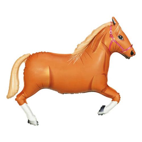 Häst - Folieballong Ljusbrun Häst