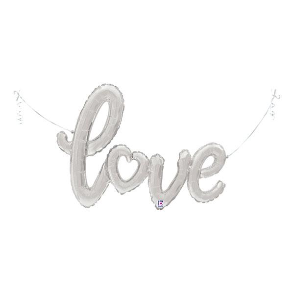 Folieballong Love Silver