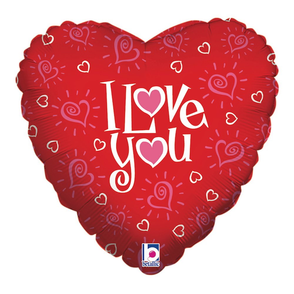 Folieballong Love You Hearts - 45 cm