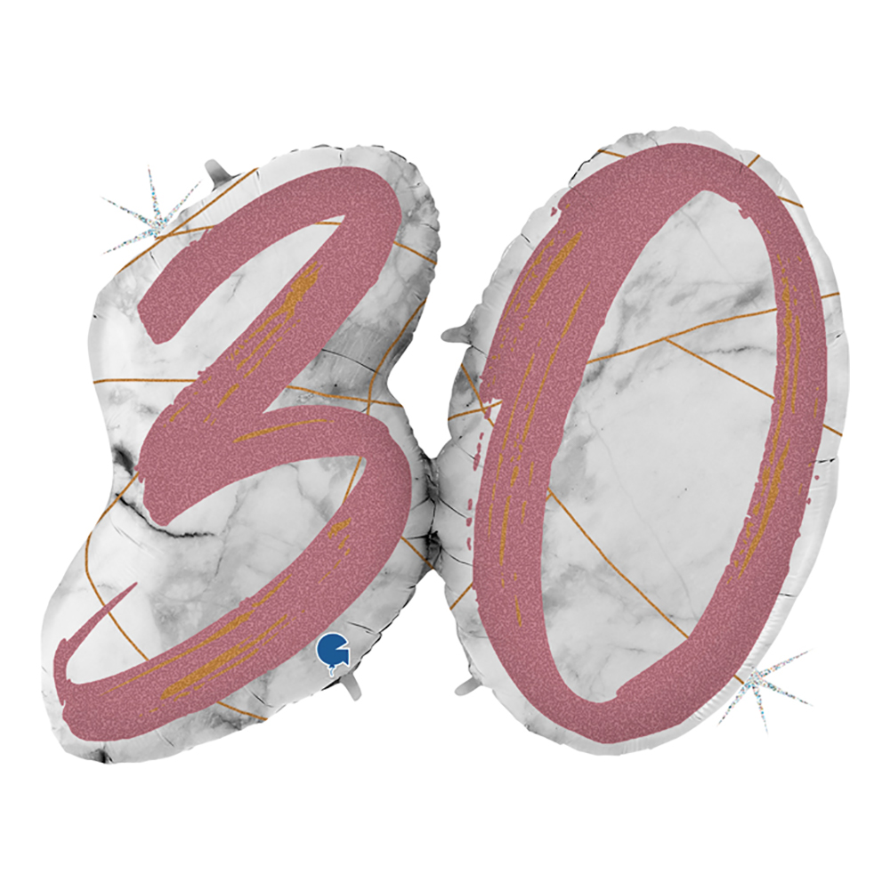 Folieballong Marble Mate 30 Roséguld Shape