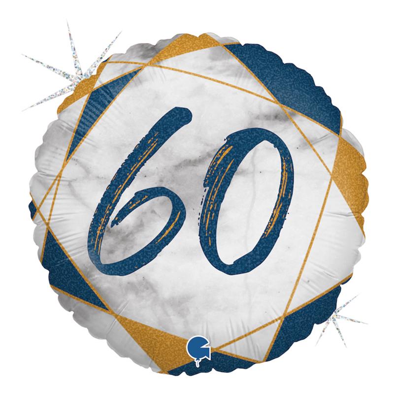 Folieballong Marble Mate 60 Blå - 1-pack