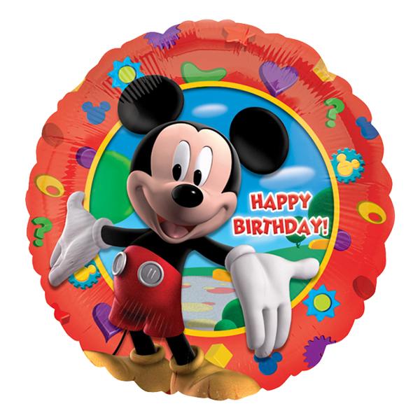 Folieballong Musses Klubbhus Happy Birthday