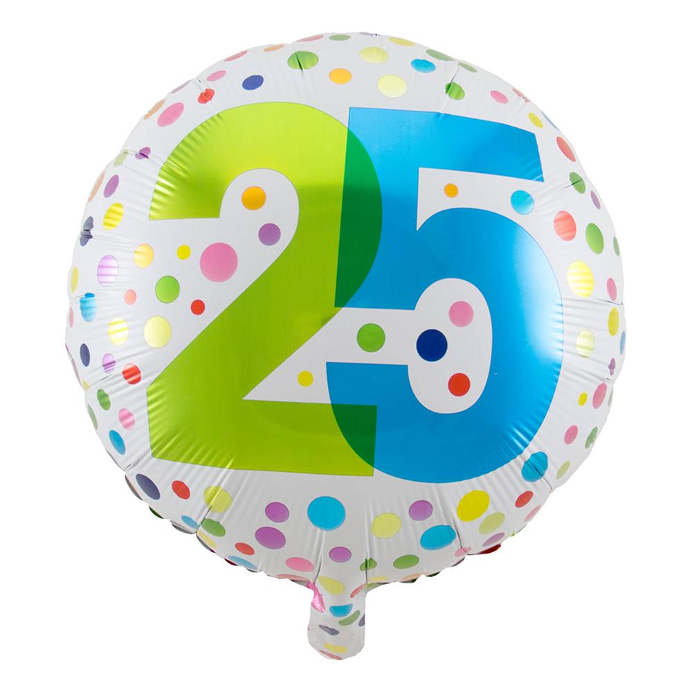 Folieballong Prickig 25 År