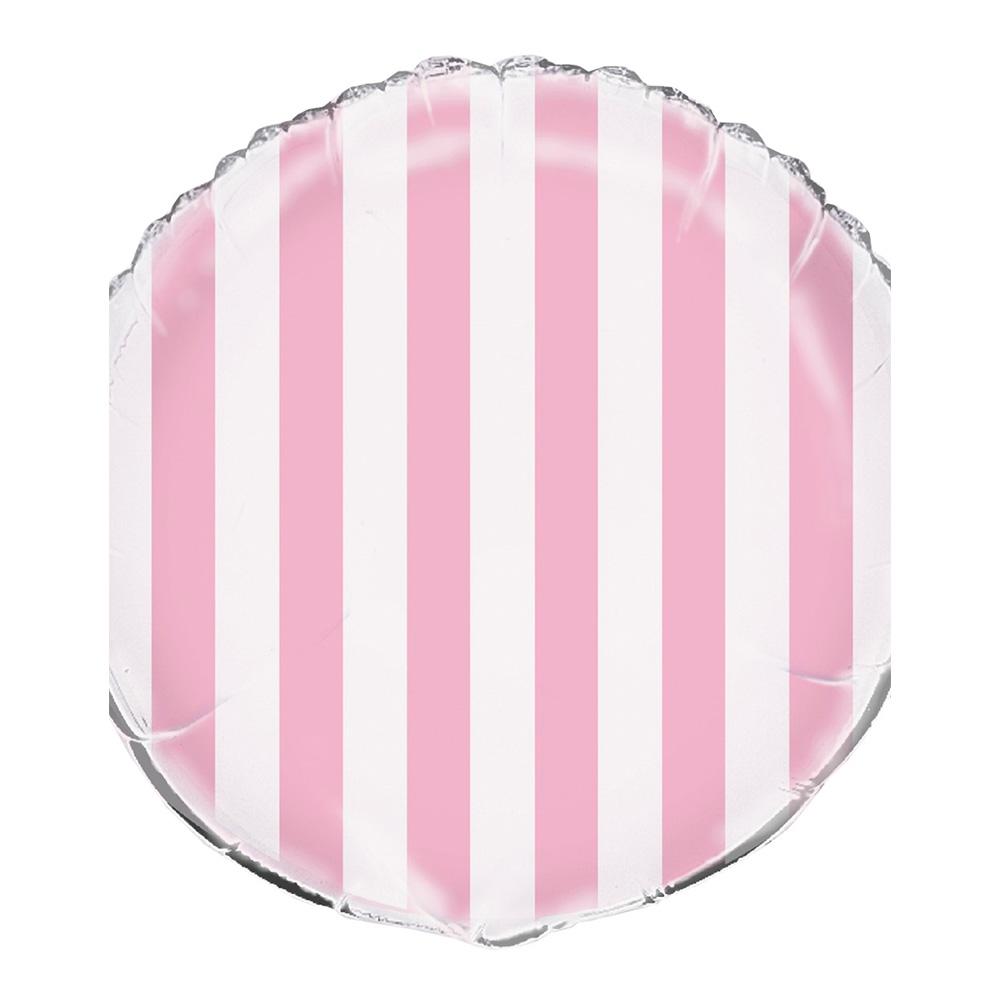 Folieballonger - Folieballong Rosa Randig