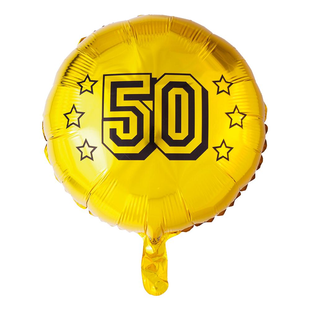 Folieballong Rund Guld 50