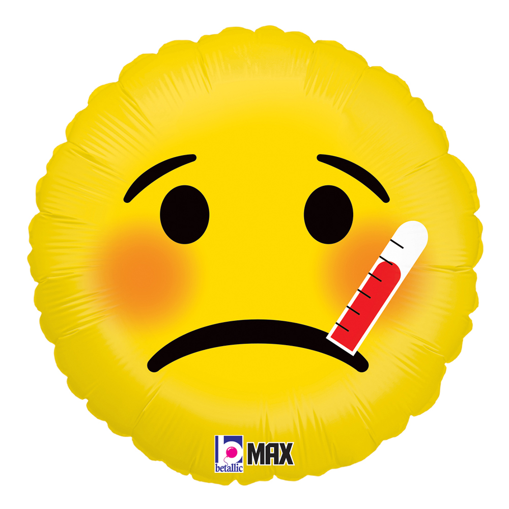 Folieballong Sjuk Emoji