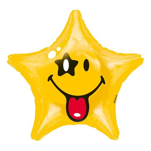 Folieballong Smiley Stjärna