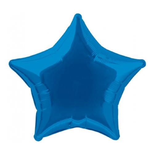 Folieballong Stjärna Blå