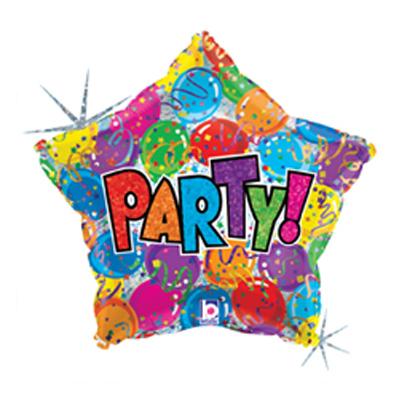 Folieballong Stjärna Party
