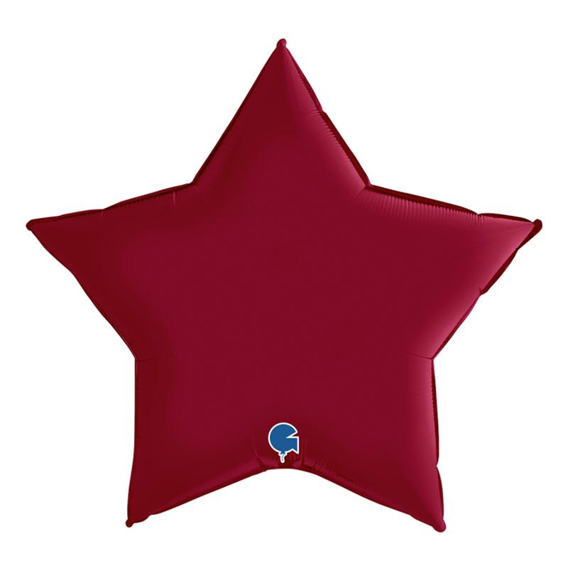 Folieballong Stjärna Satin Cherry - 45 cm   Hem//Festartiklar//Ballonger//Folieballonger   Partyoutlet