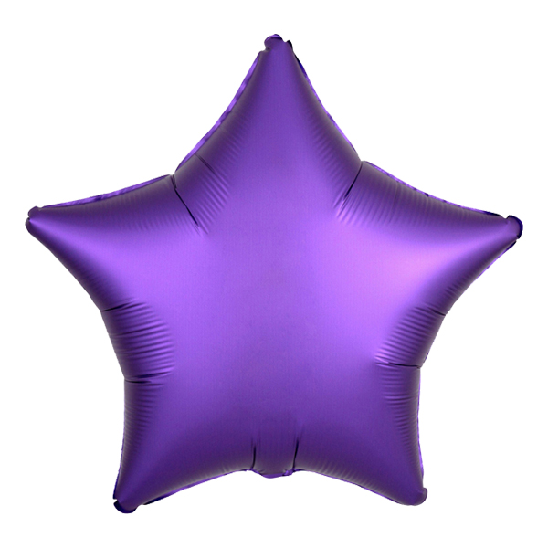 Folieballong Stjärna Satin Mörklila