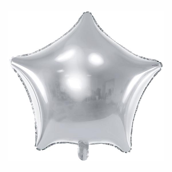 Folieballong Stjärna Silver