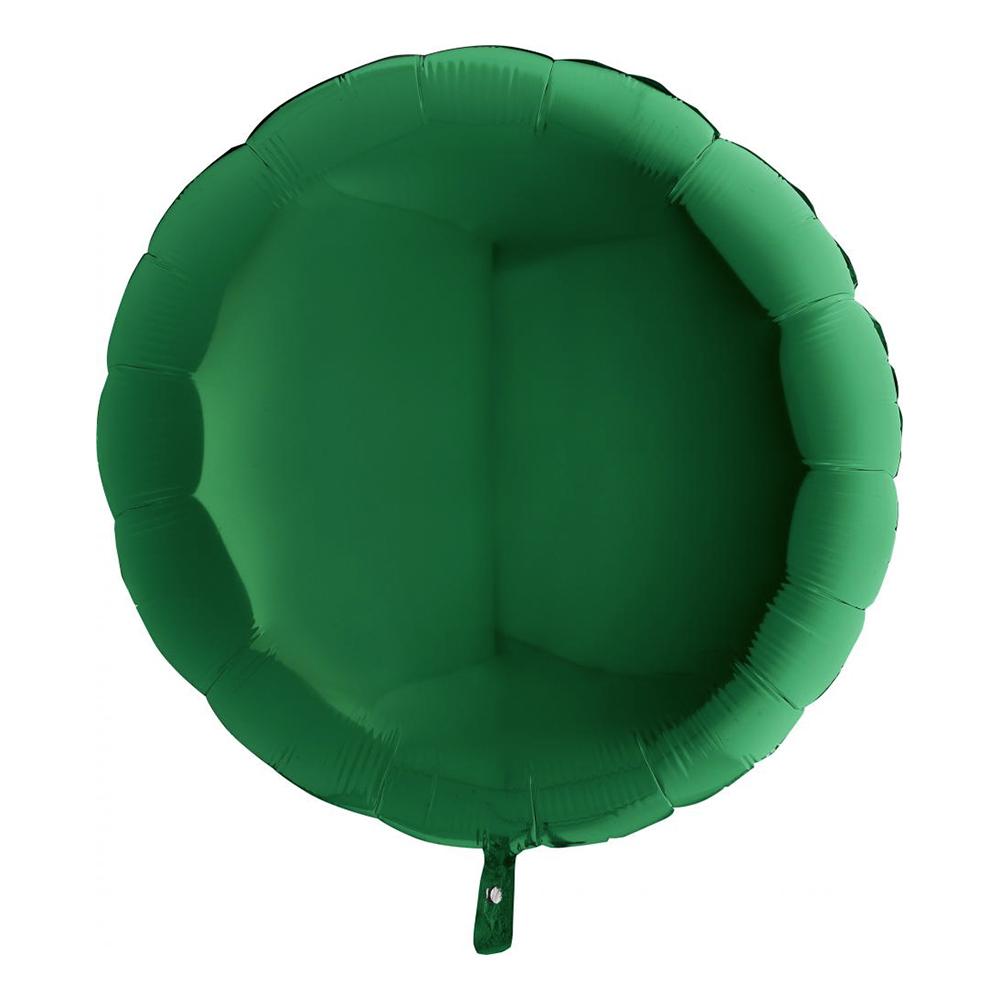 Folieballong Stor Rund Grön - 91 cm