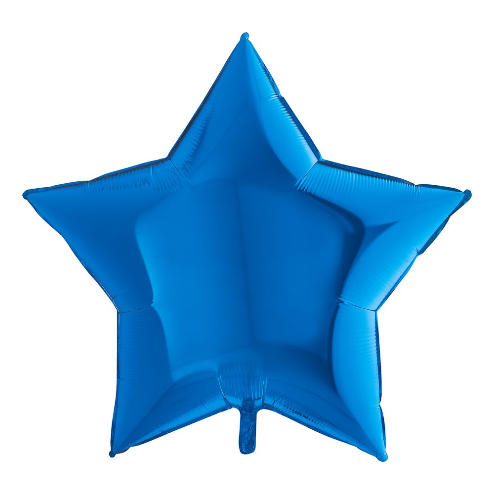 Folieballong Stor Stjärna Blå