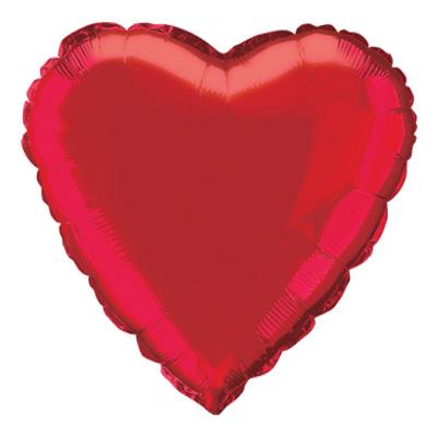 Folieballonger - Folieballong Hjärta Rött