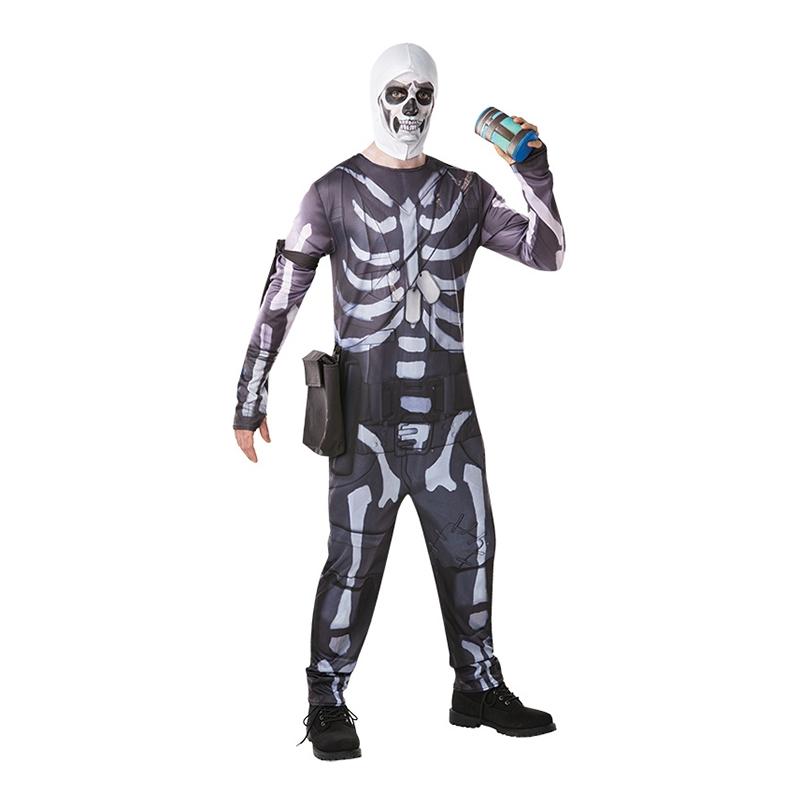 Fortnite Skull Trooper Maskeraddräkt - Small