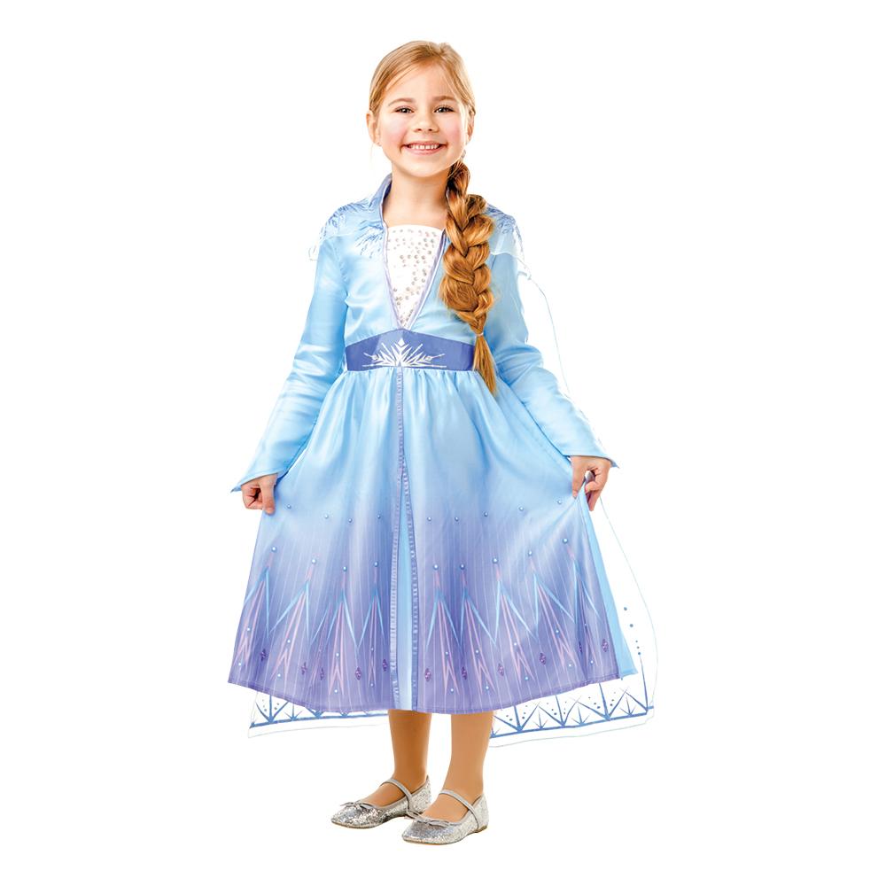 Frozen 2 Elsa Barn Maskeraddräkt - X-Small