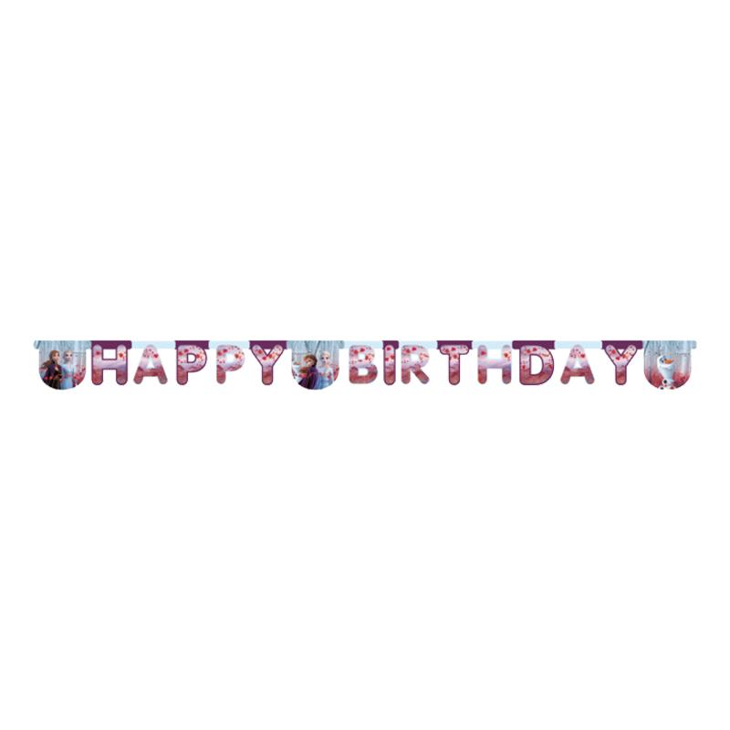 Frozen 2 Happy Birthday Banderoll