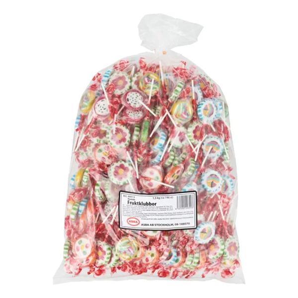 Fruktklubbor Blandade Storpack - 190-pack