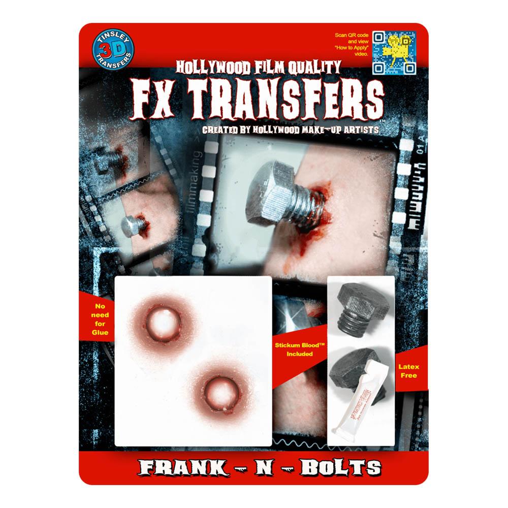 FX Transfers Frank-N-Bolts 3D | Hem//Maskerad//Smink//Specialeffekter | Partyoutlet