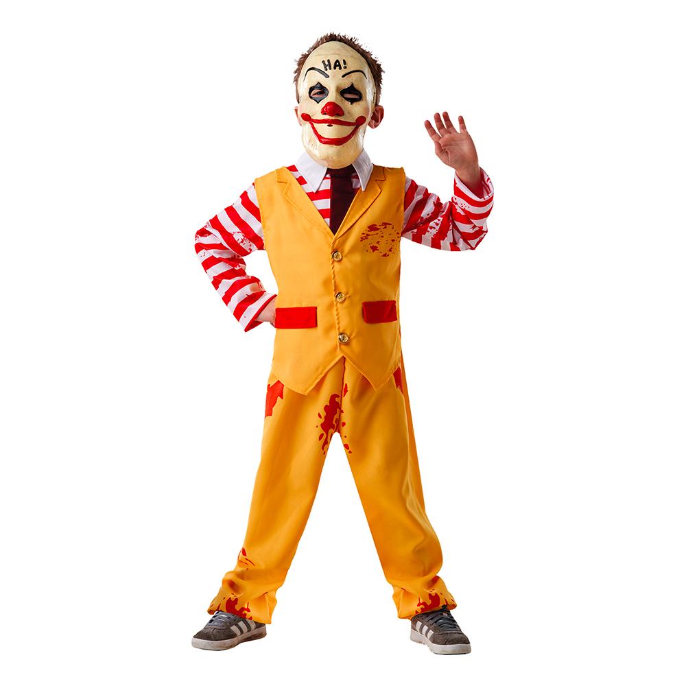 Galen Clown Halloween Barn Maskeraddräkt - Small